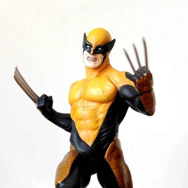 Wolverine logan liga da justiça artfx + x força estátua x homem a arma flash x ferro anime figuras de brinquedo de ação pvc modelo coleção