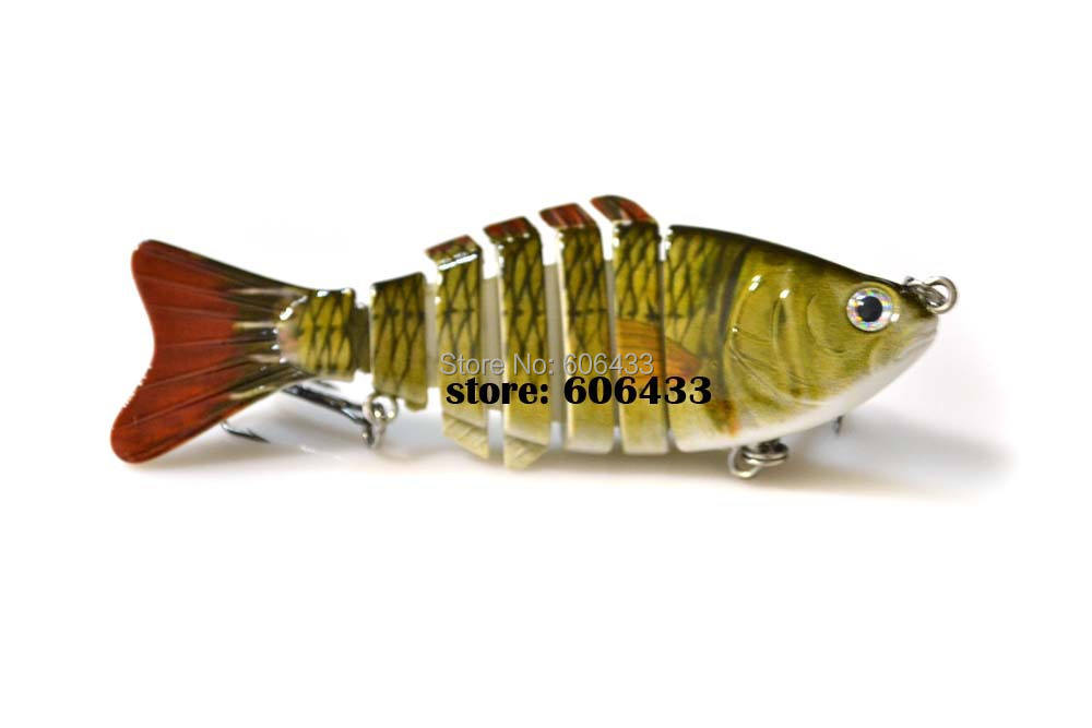 Deep Sea Multi section Lure Fishing Fish Swing Lures 7 Segment Swimbait Crankbait 10cm/15g 8041-FL7F01 Free shipping