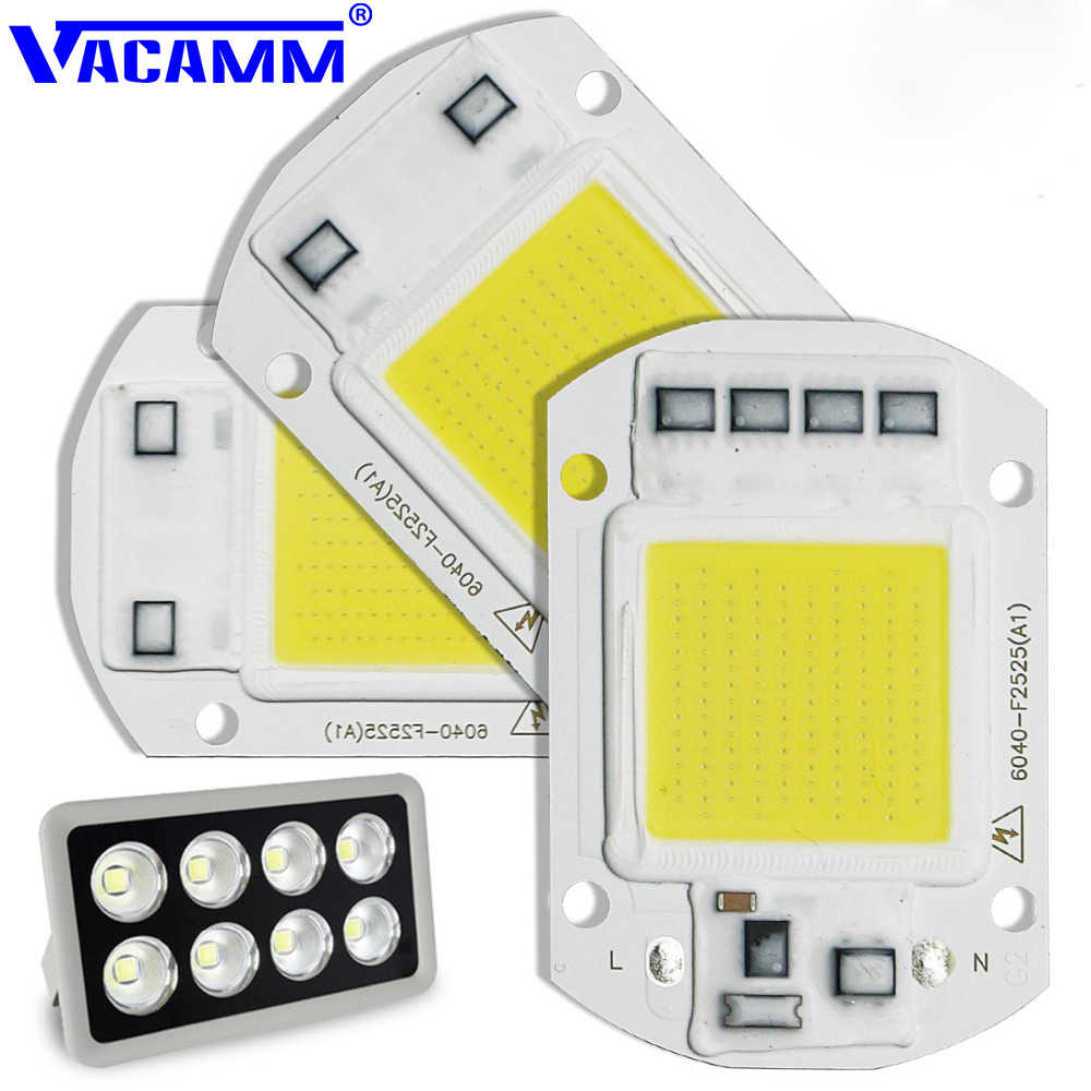 Vacamm COB Highly Power Flood Light AC 220V 20W 30W 50W DIY For Projectors LED Spotlight Outdoor Brightly Street Chip Lamp