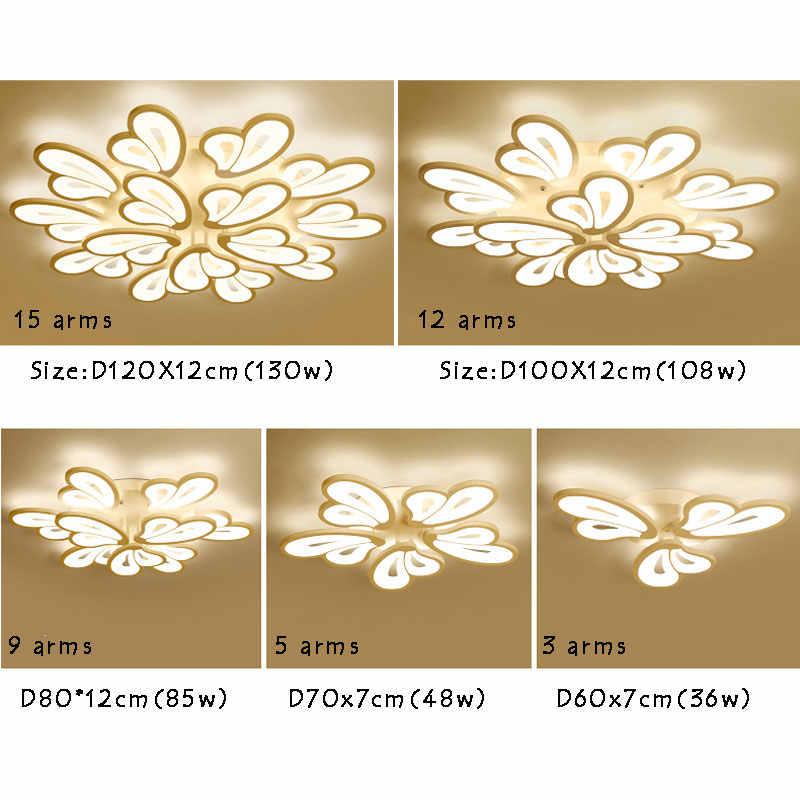 Новый дизайн акриловые современные светодиодные потолочные светильники для гостиной спальни плафон домашнее светодиодное освещение потолочное крепление для лампы