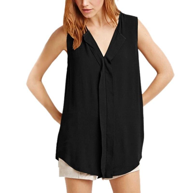 Summer Women Casual Sleeveless T-Shirt Tops Sleeveless Chiffon Cloth Women Size