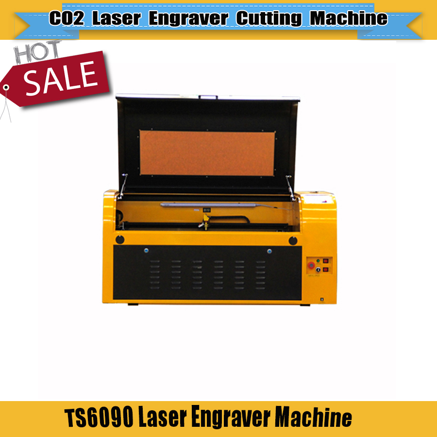 80W/90W Reci/100W CO2 Laser Engraver Machine Acrylic Laser Engraving TS6090 9060 600*900mm Motorized Up And Down Working Table