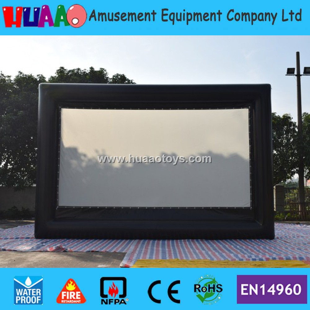 Free shipping full PVC giant inflatable movie screen inflatable inflatable film screen inflable screen for rear projection full pvc inflatable movie screen giant outdoor inflatable movie screen