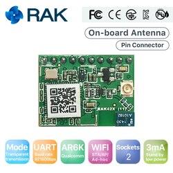 RAK425 bezprzewodowy szeregowy UART moduł WIFI do internetu rzeczy (IoT) o niskiej mocy  mały rozmiar Pin złącze klasy przemysłowej zintegrowany TCP IP ProtocolQ124 w Moduły bezprzewodowe od Elektronika użytkowa na