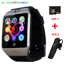 Q18S Smart Watch Bluetooth NFC Arc watch phone With SIM Camera TF Card For IOS& Android HuaWei XiaoMi Phone for Women Men Kids(China)