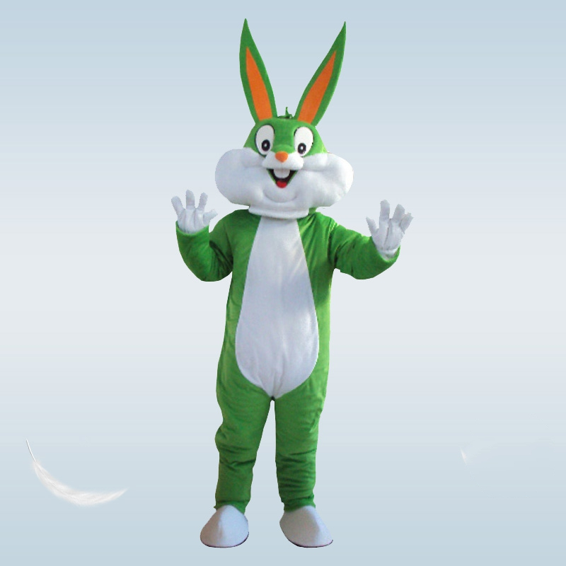 Hot Bunny Mascot Costumes Rabbit and Bugs Bunny Adult mascot Rabbit Cartoon Character Costumes Mascot fancy dress Halloween