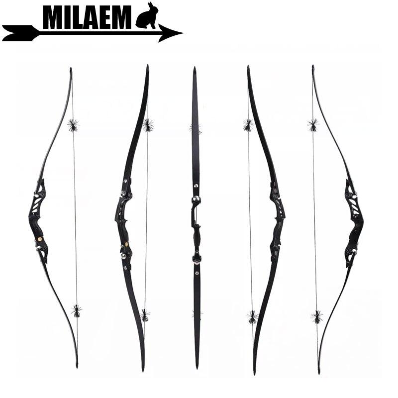 1Set 60inch Archery BOSEN HORN Recurve Bow 20-55lbs ILF American Hunting Bow Longbow Foam Core Limbs Hunting Accessory цены онлайн