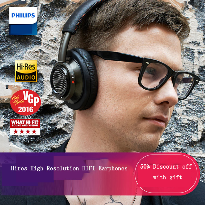 цена на Philips L2BO HIFI headphones voted best product in 2016 with 40mm high-power drive 1.2 meters Line Length for xiaomi S8 S9 IOS