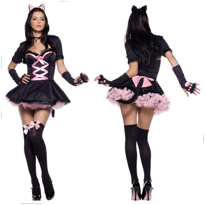 New Arrival Catsuit <font><b>Costumes</b></font> <font><b>Catwoman</b></font> Cosplay <font><b>Costume</b></font> <font><b>Sexy</b></font> Women Halloween Party Game Maid Uniform <font><b>Costumes</b></font> image