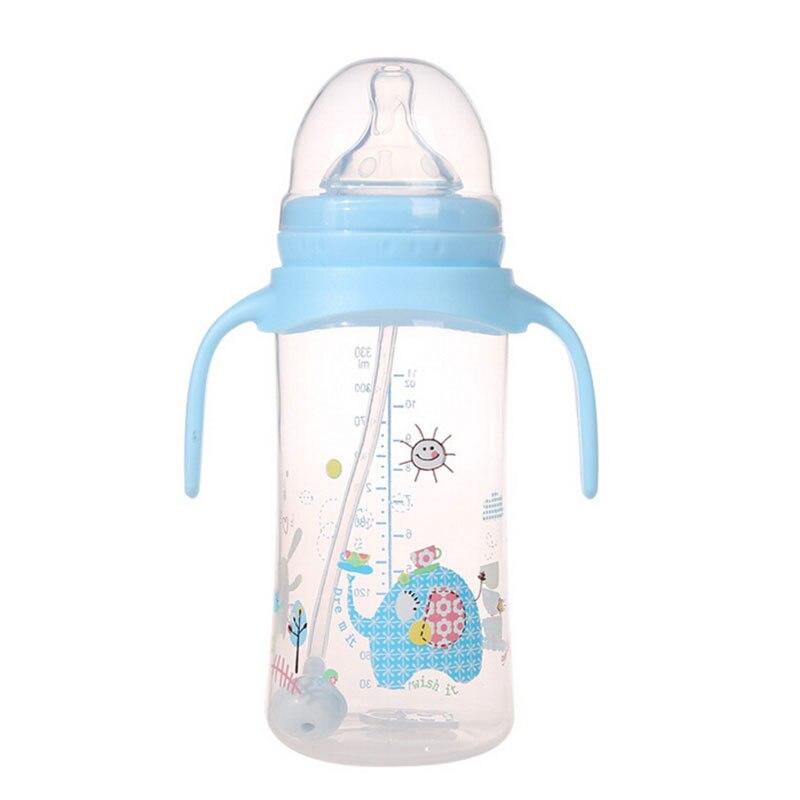 330ml Cartoon Silicone Baby Feeding Nursing Bottle Accessories Eating Milk Bottle Nuk Nipple Sippy Cup Children Kids Feeder