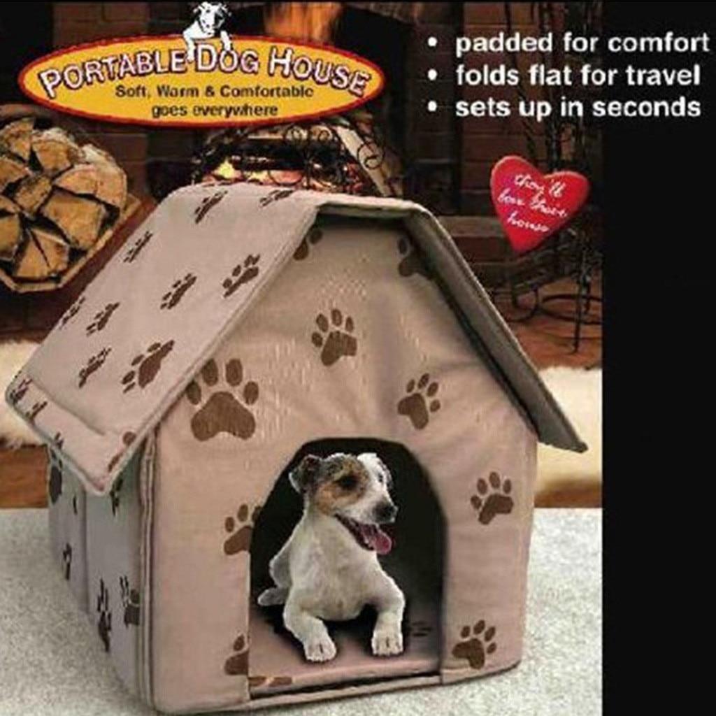 ISHOWTIENDA Faltbare Hund Haus Kleine Footprint Pet Bett Zelt Katze Zwinger Indoor Tragbare Trave pet haus