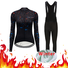 Women Cycling Outfit Winter Thermal Fleece Bike Clothing Kit Road Bicycle Maillot Clothes Set Dress Jersey Suit Uniform Outfit