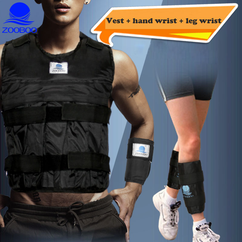 Weighted Vest Durable Adjustable Boxing Training Thickening Exercise Waistcoat Fitness Sand Clothing + Weight Leg + Weight Wrist 1 pair boxing training sticks target mma precision training sticks punching reaction target muay thai grappling jujitsu tools