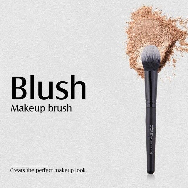 Maquillaje brochas de rubor herramienta de fibra hecha a mano brocha de ángulo de cejas rubor herramienta de sombra de ojos Q1
