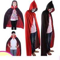 130G Halloween Party Accessories Adult And Children Cloak And Double Sided Hat With Red And Black