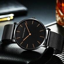 Luxury Men's Watch Quartz Stainless Steel Dial Case Watch Hannah Martin 2019 Relojes Sports Fashion Male Military Wristwatch