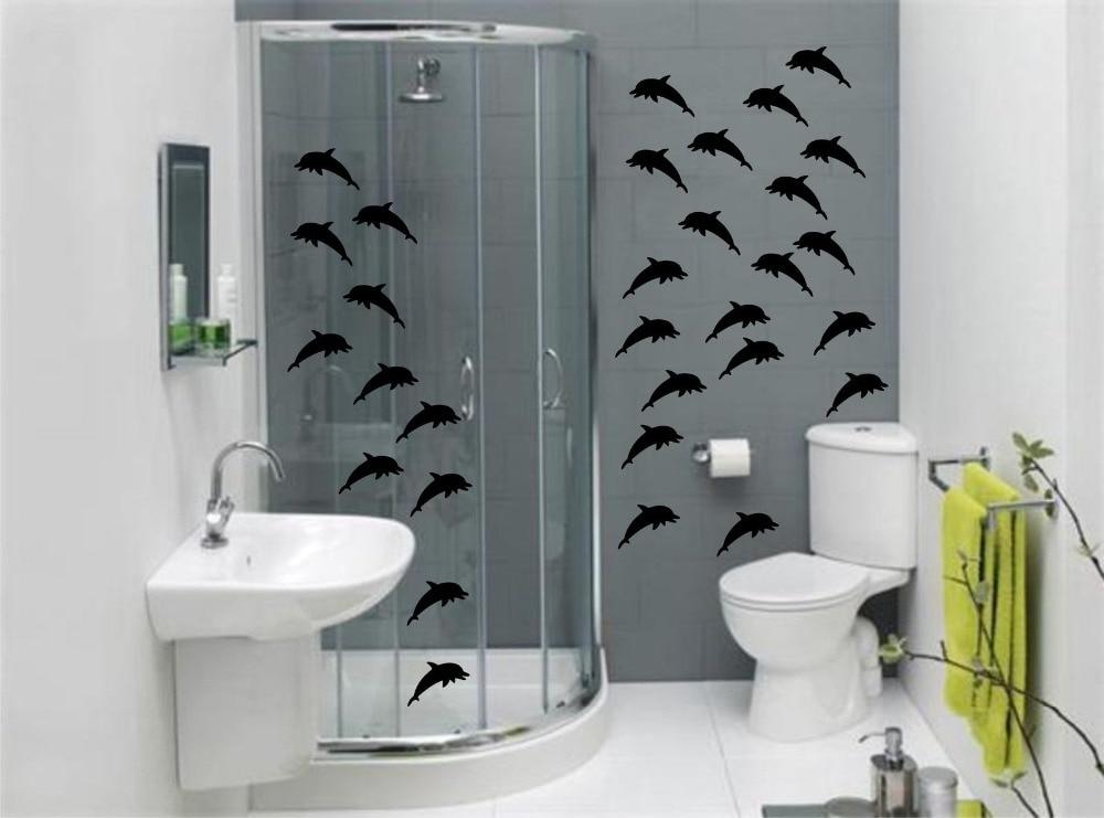 DOLPHINS Bathroom Wall Art Stickers ,Waterproof Baby Wall ...