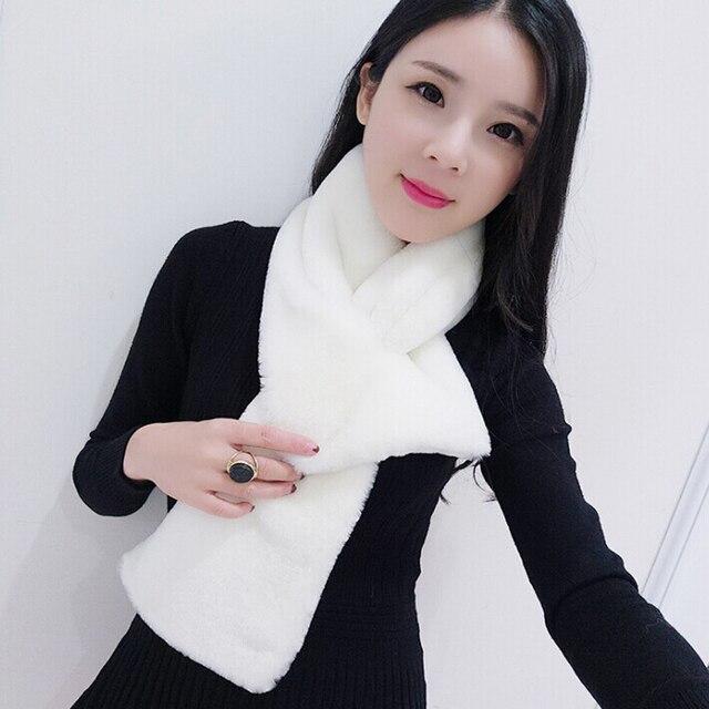 Imitated Fox Fur Shawl Beige Thick Faux Fur Scarf Unisex Fur Scarf With Tails Multi Color Scarf Women Imitation Fur Wraps Scarf