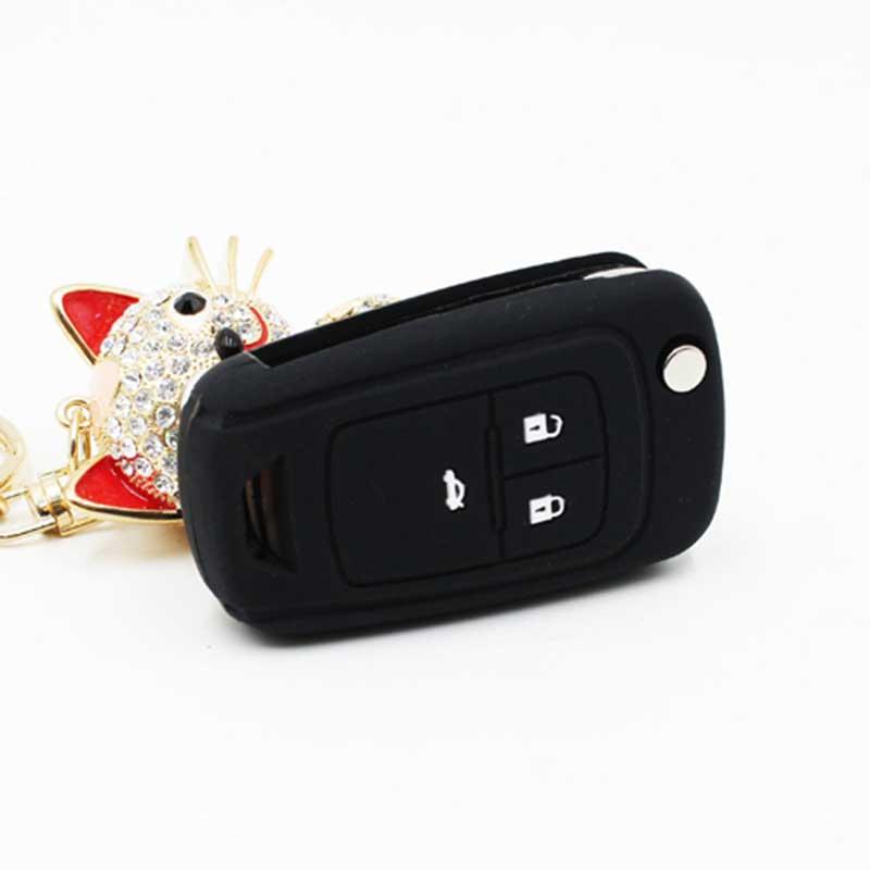 Silicone Car Key Cover Key Bag Key Case for Chevrolet Cruze 2013 Spark Onix Silverado Volt Camaro Aveo Sonic Accessories Case