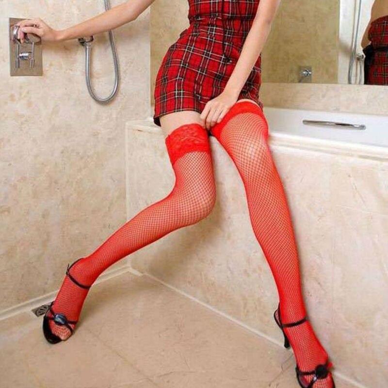 Erotic High Knee Stockings Sleepwear Sexy Lingerie Costumes Netting Intimates Underwear Coveralls Fishnet Stockings Mesh