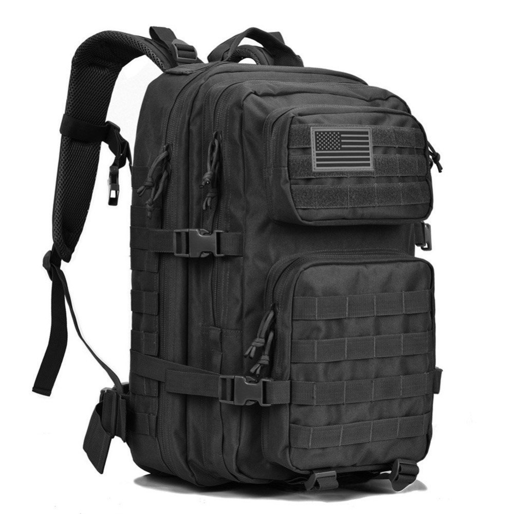 MACWAVE Outdoor Military Tactical Backpack Large Army 3 Day Assault Pack US Flag Patch Molle Rucksack