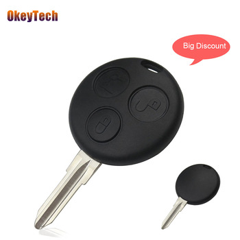 OkeyTech For Mercedes Benz w124 w202 w210 Smart Fortwo Remote Key Shell 3 Button Auto Car Key Cover Case Fob Blank Uncut Blade image