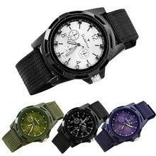 ФОТО 2017 new hot amazing handsome wonderful classical men's fashion sport braided canvas belt watch analog wrist watch