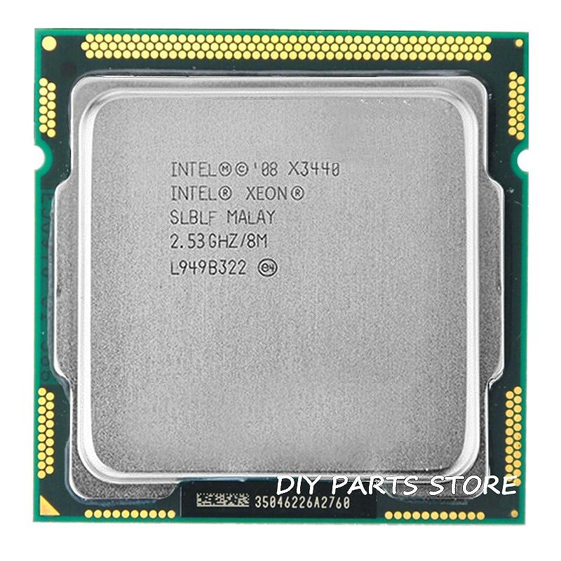 Intel Core Xeon X3440 8M Cache 2,53 GHz camiseta con frecuencia 2,9 LGA 1156 P55 H55 cerca de I5 650 i5 750 i5-760