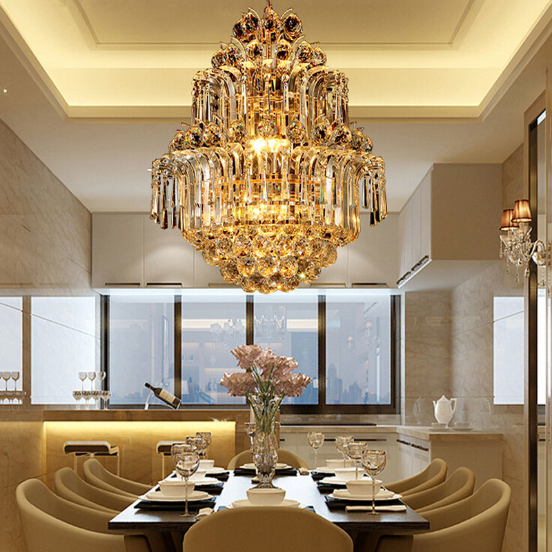 Modern Crystal LED Chandelier Gold Luxury Lustre E14*8 Bulbs Included Crystal Ball Fixture for Restaurant Living Room Lamp hot selling modern crystal chandelier light fixture chrome finish width 38 5cm 4 bulbs