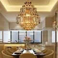 Moderne crystal led kroonluchter gold luxe lustre e14 * 8 lampen inbegrepen crystal bal armatuur voor restaurant woonkamer lamp