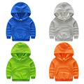 Boy baby t-shirt Hoodie sweatshirt solid color 2017's new spring 2017