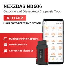 Humzor NexzDAS ND606 OBD2 Car Code Reader Diagnosis Scanner for Both Passenger and Heavy Duty Truck Diagnostic Tool
