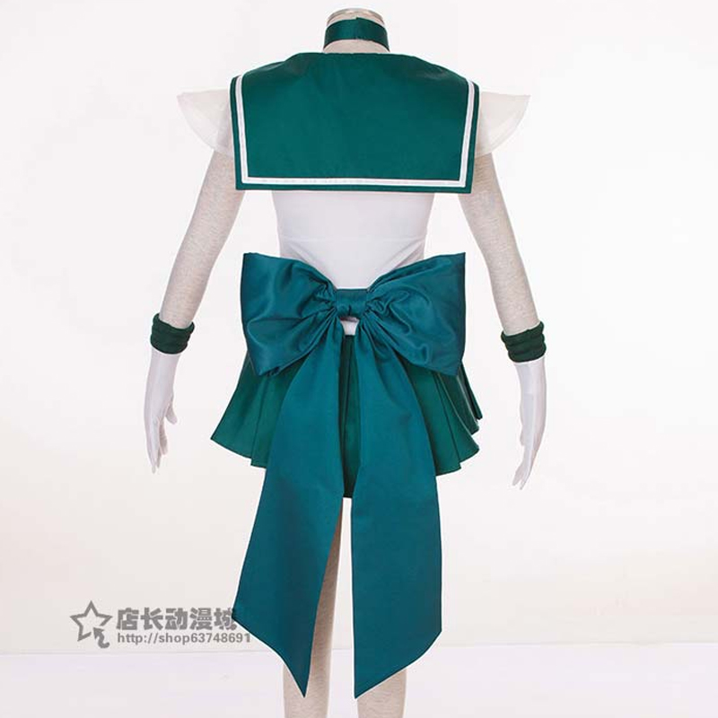 2019 chaud Anime marin lune Cosplay Kaiou Michiru Cos Halloween homme femme Cosplay Costume robe + manches + cravate + nœud + cravate + chapeaux - 5