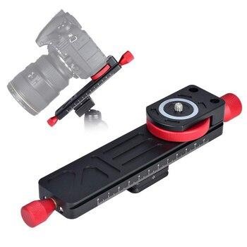Головка штатива для макросъемки из алюминиевого сплава направляющая слайдер пластина Прямая поставка адаптеры для монопода DSLR камеры