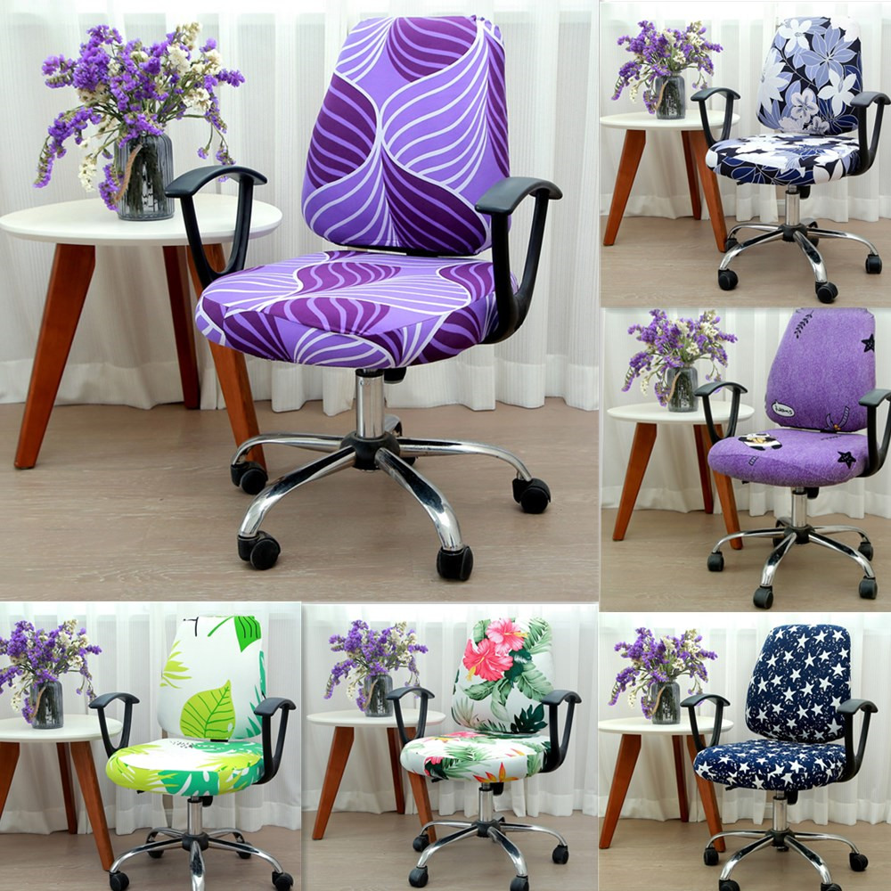 2pcs/set Universal Elastic Spandex Fabric Split Chair Back Cover+Seat Cover Anti-dirty Office Computer Chair Cover Stretch Case(China)