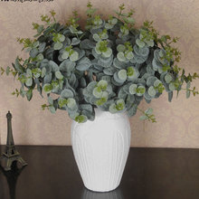 48 Cm Eucalyptus Bouquet Tree Branches Silk Artificial Leaves Home Decoration DIY Flower Arrangment Plant Faux Foliage Wreath все цены