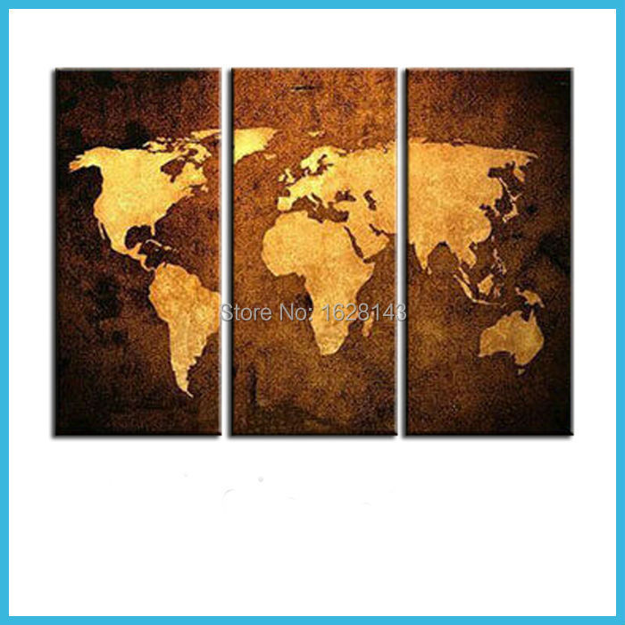 World map wall canvas promotion shop for promotional world for Abstract mural painting