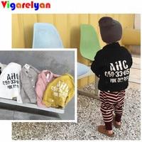 Baby Boys Denim Jacket Turn Over Long Sleeve Denim Coat For Little Girls 5 Colors Back