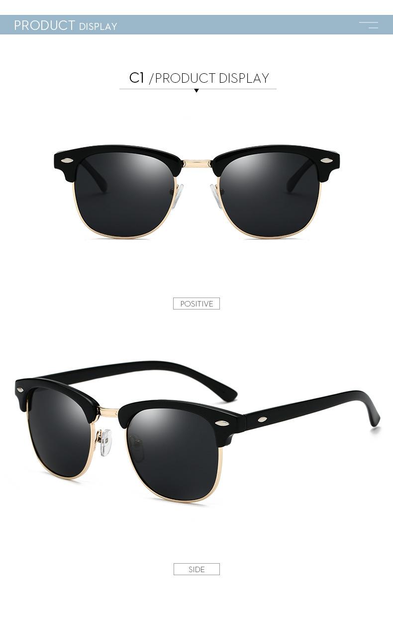 Polarized Sunglasses Men Women RB3016 Brand Design Eye Sun Glasses Women Semi Rimless Classic Men Sunglasses Oculos De Sol UV400 7