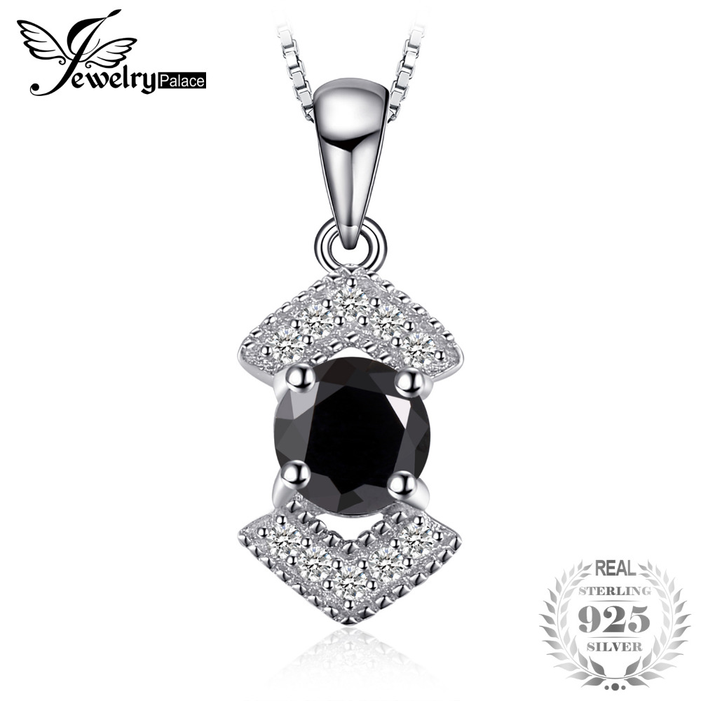 JewelryPalace Elegante Genuino Nero Spinello Pendnat Collana In Argento Sterling 925 Gioielleria Raffinata Bestfriend Regalo Senza Catena NuovoJewelryPalace Elegante Genuino Nero Spinello Pendnat Collana In Argento Sterling 925 Gioielleria Raffinata Bestfriend Regalo Senza Catena Nuovo