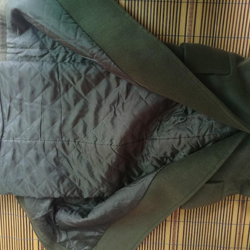 Outwear Grande Gray Lâche green D'hiver 2018 Manteau Qw736 Col Vêtements Laine Nouvelle Femelle De Femmes Mode Taille Cachemire Capuchon À Fourrure 0CZxxHRq