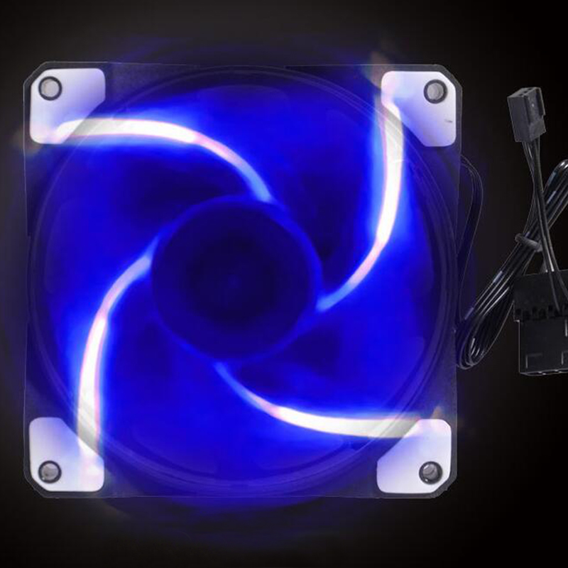 New style ACF-120 fan game mascherano blizzard big air volume ultra-quiet LED 12cm computer case 120*120*25 mm Fans Cooling