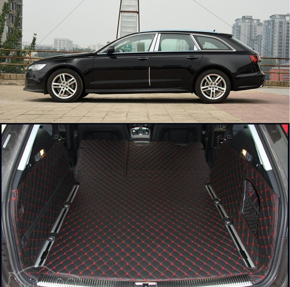fiber leather car trunk mat for audi a6 2011 2012 2013 2014 2015 2016 2017 allroad avant a6 c7 car accessories image