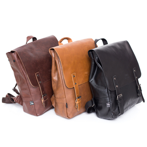 Image 4 - 2020 Hot! Men and women fashion PU leather backpack school bag popular style orange bags and shoulder school backpacks for women