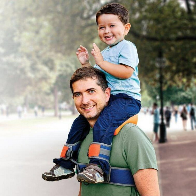 Outdoor Travel with Children Tools.Hands-Free Shoulder Carrier with Ankle Straps and Cushioned Hip Seat travel back frame sadd