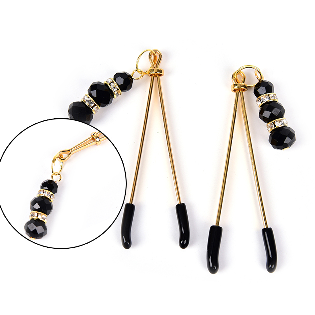 Exotic  Accessories  1pair Nipple Clamps Shame Beads Shaking Stimulate Flirting Clit Clip Overcast Fantish Breast Massage