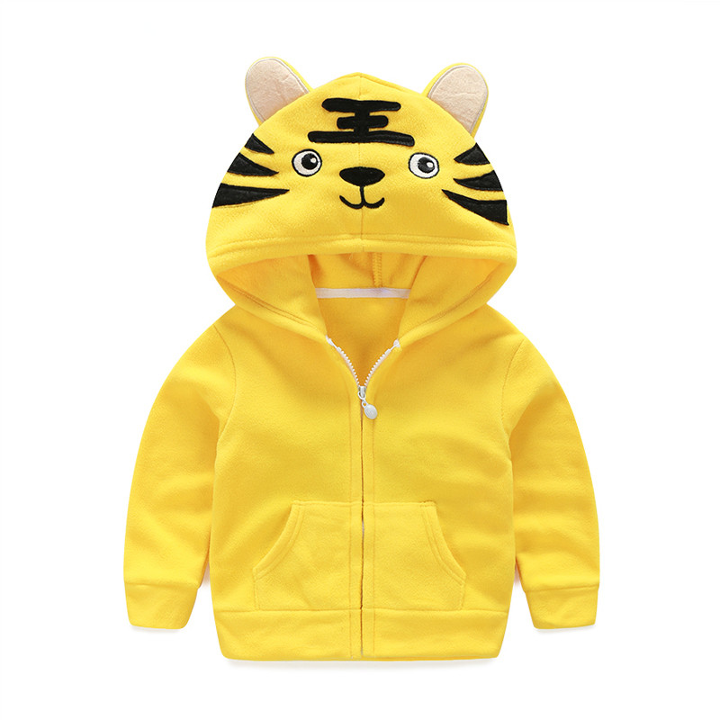 Mudkingdom Boys Girls Animal Shaped Hooded Jackets Toddler Fleece Coats Kids Zipper Candy Color Outerwear Girl Winter Clothes