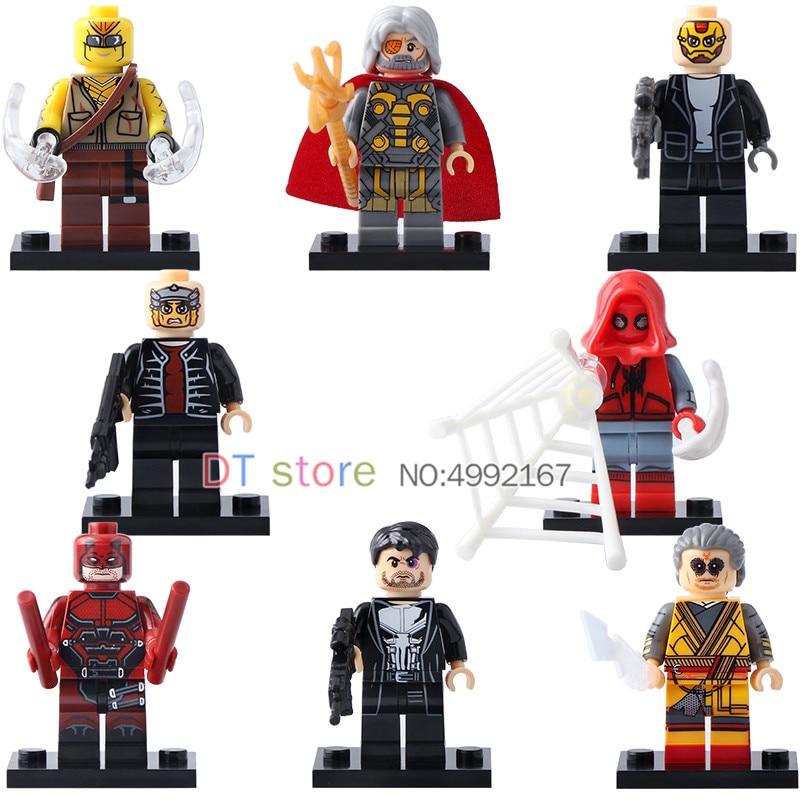 50 Pcs/Lot Avec Légèreté Figure Spider Man Punisher Voleur Kaecillius Odin blocs de Construction Briques Modèle Jouets Pour ENFANTS X0180