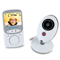 2017 New BABY Monitor VB605 2.4GHz LCD Temperature Display Kids Monitor Night Vision Wireless Babies Video Monitors Two Receiver