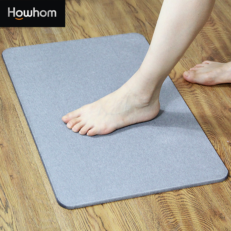 Natural Diatom Mud Foot Mat Bathroom Anti slip Mat Bathroom Absorbent Mats Bathroom Door Mat Diatomite Absorbent Pad 40 30 in Bath Mats from Home Garden